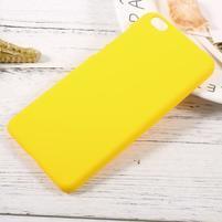 Rubber pogumovaný plastový obal pre Xiaomi Mi 5c - žltý