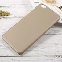 Rubber pogumovaný plastový obal pre Xiaomi Mi 5c - zlatý