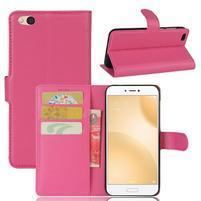 Graines PU kožené puzdro pre mobil Xiaomi Mi 5c - rose