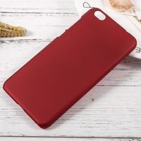 Rubber pogumovaný plastový obal pre Xiaomi Mi 5c - červený