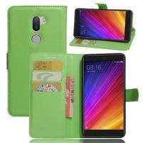 Graines knížkové PU kožené puzdro pre Xiaomi Mi5s Plus - zelené