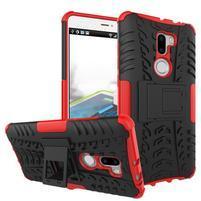 Outdoor odolný obal 2v1 pre mobil Xiaomi Mi5s Plus - červený