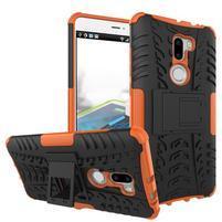 Outdoor odolný obal 2v1 pre mobil Xiaomi Mi5s Plus - oranžový