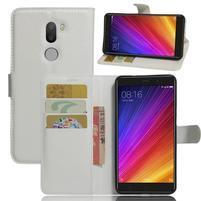 Graines knížkové PU kožené puzdro pre Xiaomi Mi5s Plus - biele