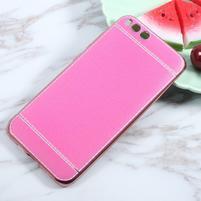 Luxusní gélový obal s PU koženými zády pre Xiaomi Mi 6 - rose