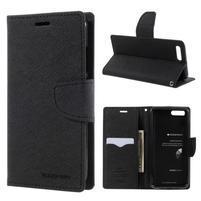 Diary PU kožené puzdro pre mobil Xiaomi Mi 6 - čierne