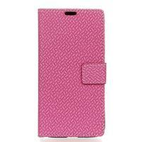 Wove PU kožené peňaženkové puzdro na Xiaomi Mi 8 - rose