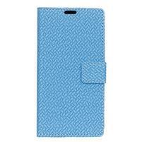 Wove PU kožené peňaženkové puzdro na Xiaomi Mi 8 - modré