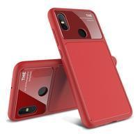 LEN gélový hybridný obal pre Xiaomi Mi 8 - červený
