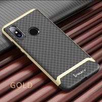 IPAK odolný obal z kombinácie gélu a plastu na Xiaomi Mi 8 - zlatý