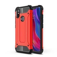 Defender odolný hybridný obal na mobil Xiaomi Mi 8 SE - červený