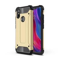 Defender odolný hybridný obal na mobil Xiaomi Mi 8 SE - zlatý