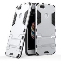 Defender odolný obal so stojančekom na Xiaomi Mi A1 - strieborný