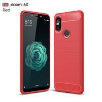 Carb odolný silikónový obal na Xiaomi Mi A2 - červený
