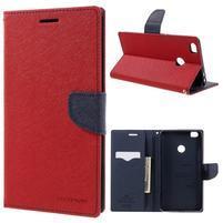Diary PU kožené puzdro pre mobil Xiaomi Mi Max - červené