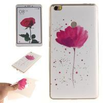 Softies gélový obal pre mobil Xiaomi Mi Max - kvetinka