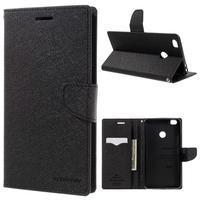 Diary PU kožené puzdro pre mobil Xiaomi Mi Max - čierné