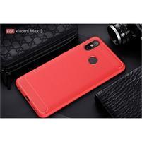 Fiber odolný gélový obal na Xiaomi Mi Max 3 - červený
