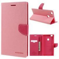Diary PU kožené puzdro pre mobil Xiaomi Mi Max - ružové