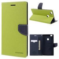 Diary PU kožené puzdro pre mobil Xiaomi Mi Max - zelené