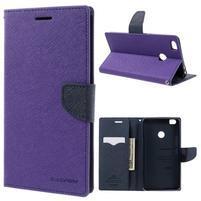 Diary PU kožené puzdro pre mobil Xiaomi Mi Max - fialové