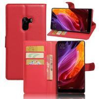 Cross PU kožené puzdro pre mobil Xiaomi Mi Mix - červené
