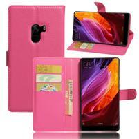 Cross PU kožené puzdro pre mobil Xiaomi Mi Mix - rose