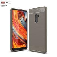 Carbon odolný gelový obal na Xiaomi Mi Mix 2 - sivý