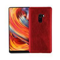 Hors hybridný obal pokrytý PU kožou na Xiaomi Mi Mix 2 - červený