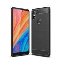 Carbon odolný gélový obal na mobil Xiaomi Mi Mix 2s - čierny