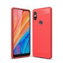 Carbon odolný gélový obal na mobil Xiaomi Mi Mix 2s - červený
