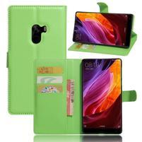 Cross PU kožené puzdro pre mobil Xiaomi Mi Mix - zelené