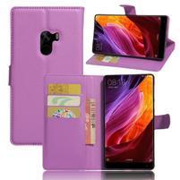Cross PU kožené puzdro pre mobil Xiaomi Mi Mix - fialové