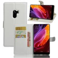 Cross PU kožené puzdro pre mobil Xiaomi Mi Mix - biele