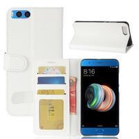 Wallet PU kožené puzdro na Xiaomi Mi Note 3 - biele