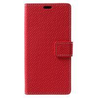 Texture PU kožené puzdro na Xiaomi Mi Note 3 - červené
