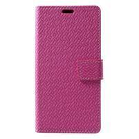 Texture PU kožené puzdro na Xiaomi Mi Note 3 - rose