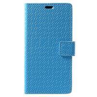 Texture PU kožené puzdro na Xiaomi Mi Note 3 - modré