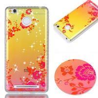 Patty gelový obal na Xiaomi Redmi 3S a 3 Pro - kvetiny