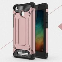 Guard odolný obal 2v1 na mobil Xiaomi Redmi 3S - ružovozlatý