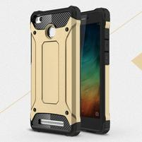 Guard odolný obal 2v1 na mobil Xiaomi Redmi 3S - zlatý