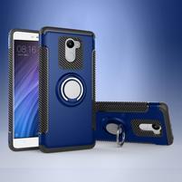 Ring odolný obal s držiakom na Xiaomi Redmi 4 - modrý