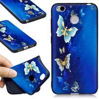 Motive gelový obal na Xiaomi Redmi 4X - modrý motýľ