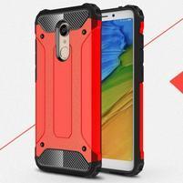Armory hybridný odolný obal na Xiaomi Redmi 5 - červený