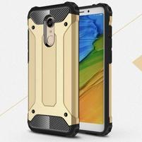 Armory hybridný odolný obal na Xiaomi Redmi 5 - zlatý
