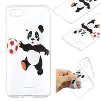 Print gélový obal na mobil Xiaomi Redmi 6 - panda na fotbale