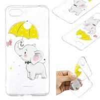 Print gélový obal na mobil Xiaomi Redmi 6 - slon s dáždnikom