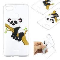 Print gélový obal na mobil Xiaomi Redmi 6 - panda na vetve