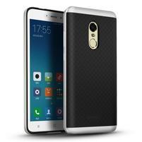 Ipaky 2v1 odolný obal na mobil Xiaomi Redmi Note 4 - strieborný