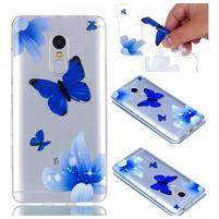 Embi gélový obal na mobil Xiaomi Redmi Note 4 - modří motýlkové